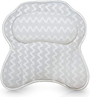 ATHENIA SPA Luxurious Bath Pillow for Women & Men - Ergonomic Bathtub Cushion for Neck, Head & Shoulders with 3D Air Mesh ...