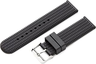 Hadley-Roma Men's MS3470RA 180 18-mm Genuine Rubber Diver Sport Watch Strap