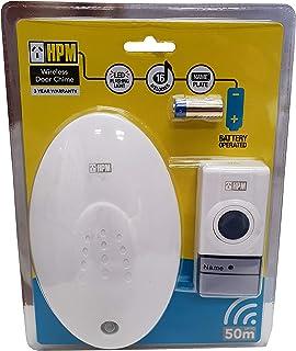 HPM D642/05 Wireless Door Chime Wireless Door Chime with LED Indicator - 50m Range, White
