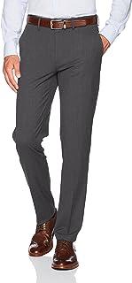 J.M. Haggar Men's Stretch Superflex Waist Slim Fit Flat Front Dress Pant