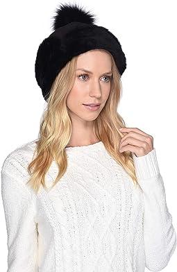 8b46d94b8013d UGG. Up Flap Water Resistant Sheepskin Hat.  78.75MSRP   175.00. Metallic  Black