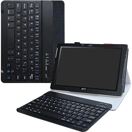 LiuShan Acer B3-A40 Teclado Funda, Detachable Wireless Teclado (Teclado QWERTY Formato inglés) PU Cuero con Soporte Caso para 10.1