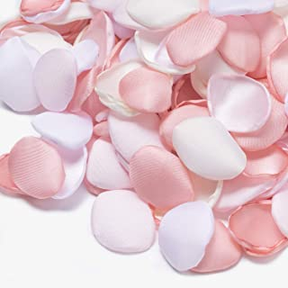 Ling's moment Artificial Flowers Silk Rose Petals 200PCS Pink Flower Girl Scatter Petals for Wedding Aisle Table Centerpieces Confetti Party Cake Table Decoration