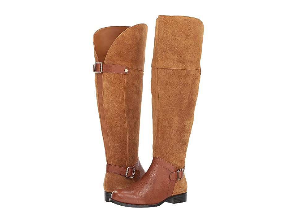 Naturalizer January WC (Camel/Brown Suede/Tumbled Leather) Women