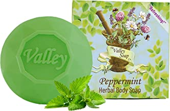 The Valley Soap Company Peppermint Soap Bar with Peppermint Essential Oil (100gr)