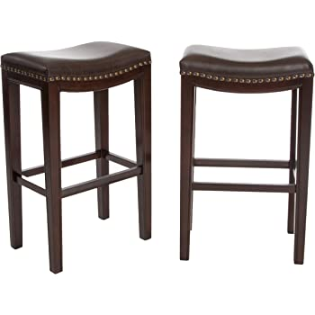 Christopher Knight Home Avondale Backless Bar Stools, 2-Pcs Set, Brown