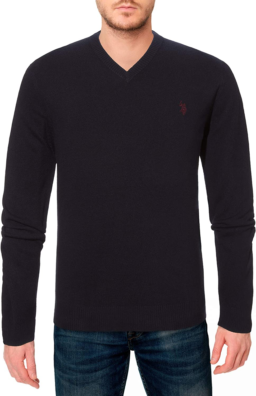 U.S. Polo Assn. Men's Solid V-Neck Sweater New Ranking TOP12 product type