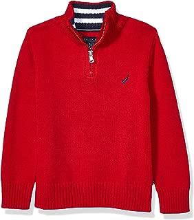 Boys' 1/4 Zip Logo Pullover Sweater