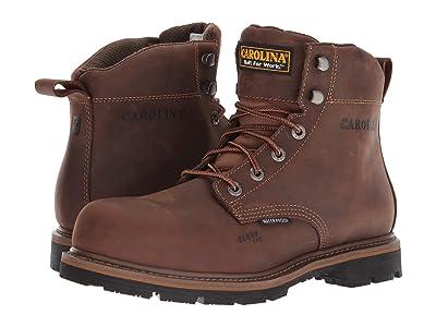 Carolina 6 Waterproof Work Boot CA9536 (Mohawk RW/Brown Leather Upper) Men