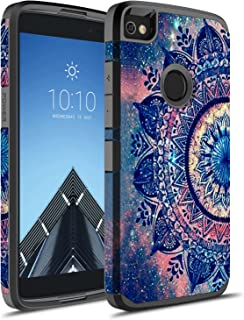 Alcatel Idol 5 Case, Alcatel Nitro 5 Case, Rosebono Hybrid Dual Layer Shockproof Hard Cover Graphic Fashion Cute Colorful Silicone Skin Case for Alcatel Idol 5 - Mandala