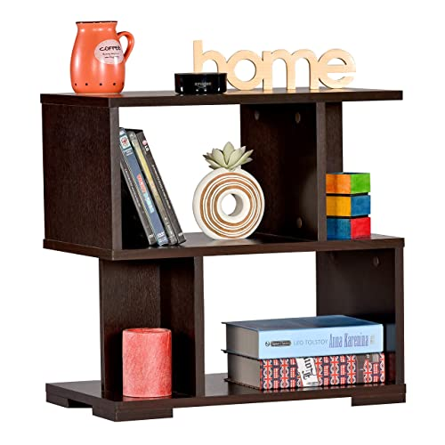 DeckUp Siena Side Table (Dark Wenge, Matte Finish)
