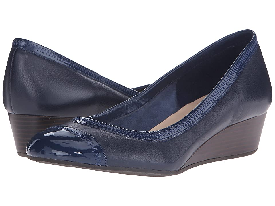 Cole Haan Elsie Cap Toe Wedge II (Blazer Blue) Women