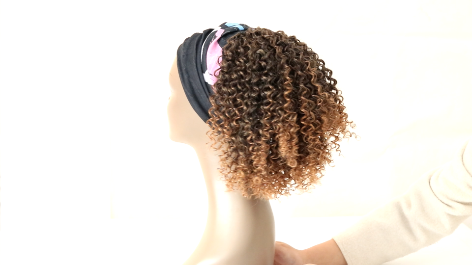 YEBO Drawstring Ponytail Afro Kinky Short Curly Pony Hair Pieces Afro Puff Drawstring Ponytail DarkBrown for African American Women 10 Inch Ponytail Extension(#2/10Inch)