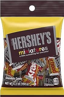 HERSHEY'S Chocolate Candy Bar Assortment, Miniatures (Hershey's, Krackel, Mr Goodbar, Special Dark), 5.3 Ounce (Pack of 12)
