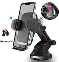 Woeau Automatic Clamping QI Fast 10W 7.5W & 5W Wireless Car Charger Mount
