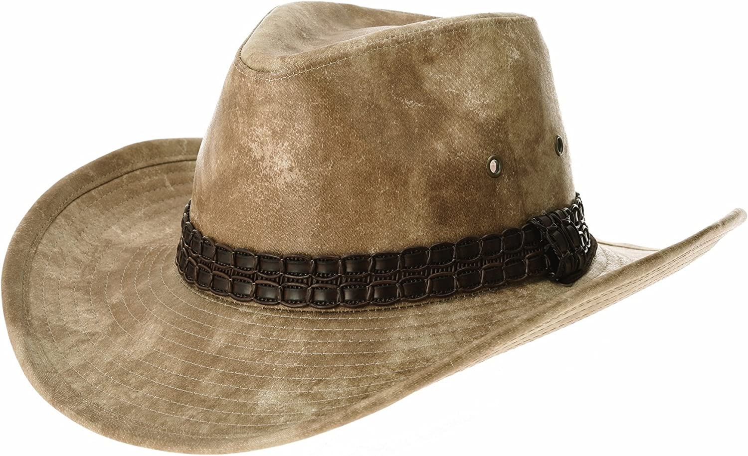 WITHMOONS Indiana Jones Mail order cheap Hat Sale SALE% OFF Weathered Leather G Outback Faux