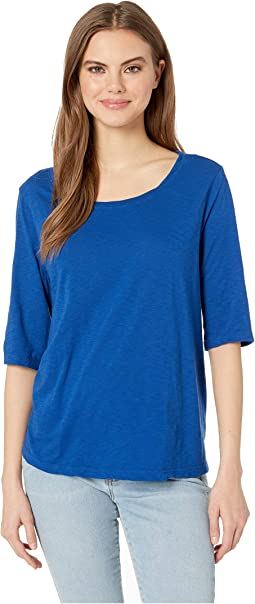 2d7a20c0 Michael stars shine elbow sleeve drape neck top | Shipped Free at Zappos
