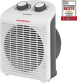 Bomann Värmefläkt HL 6040 CB, mobil och kompakt värmefläkt, 2 värmenivåer (1000/2000 W), kall steg (fläkt), vit