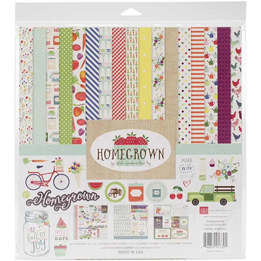 Echo Park Paper Company Homegrown Scrapbook Collection Kit