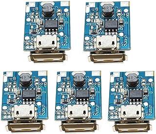 ICQUANZX 5PCS 5V 1A Boost Step Up Módulo de Fuente de alimentación Tablero de protección de Carga de batería de Litio 134N...