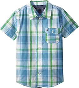 Tommy Hilfiger Kids Short Sleeve Doug Yarn-Dye Shirt (Toddler/Little Kids)