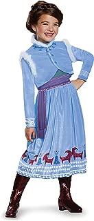 Anna Frozen Adventure Dress Deluxe Costume, Multicolor, Medium (7-8)