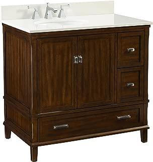 "Dorel Living Otum 36"" Bathroom Vanity, Dark Walnut"