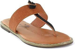 Footwear Women's Navo Flat Dress Sandal Flip Flop Everyday Thong Slip-On Shoes