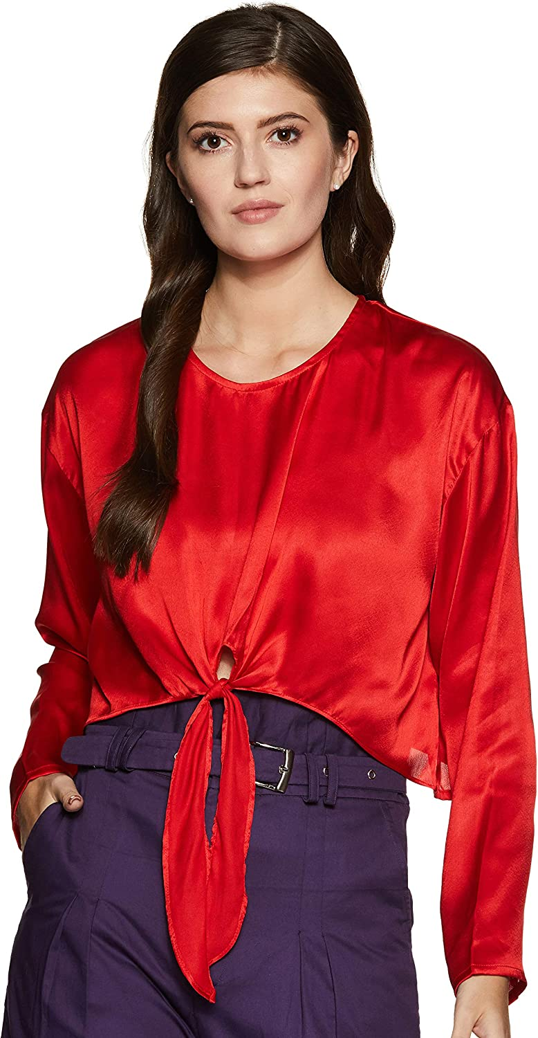 Boutique23 Womens Front Knot Crop Top