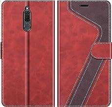 MOBESV Custodia Huawei Mate 10 Lite, Cover a Libro Huawei Mate10 Lite, Custodia in Pelle Huawei Mate 10 Lite Magnetica Cover per Huawei Mate 10 Lite, Elegante Rosso