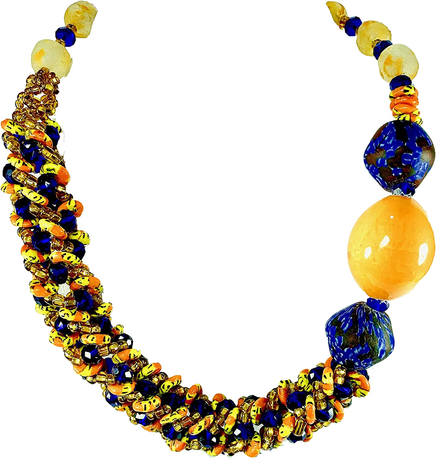 Sophia Dor Wisdom Glass Bead Necklace with Bracelet and Earring Set