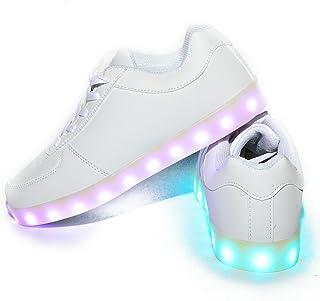 542cfd5819 Usay like Envio 24 Horas Modelos Zapatillas LED con 7 Colores Luces Carga  USB Blanco Negro