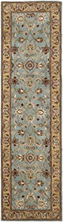 Safavieh Heritage Collection HG958A Handcrafted Traditional Oriental Blue and Gold Wool Runner (2'3