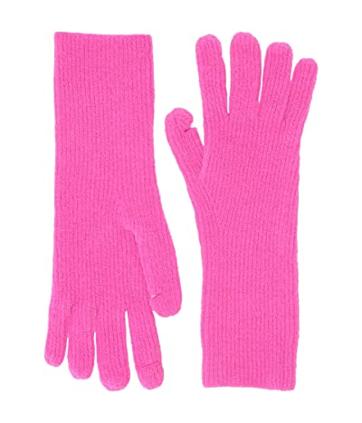 J.Crew Supersoft Easy Ribbed Gloves (Neon Berry) Dress Gloves