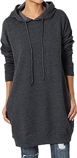 TheMogan S~3X Basic Loose Fit Pocket Pullover Hoodie Long Tunic Sweatshirts