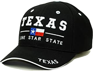 Texas State Embroidery Hat Long Star State Adjustable Baseball Cap