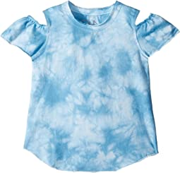 Chaser Kids - Vintage Jersey Cold Shoulder Flutter Top (Toddler/Little Kids)