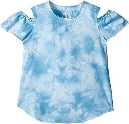 Chaser Kids Vintage Jersey Cold Shoulder Flutter Top (Toddler/Little Kids)