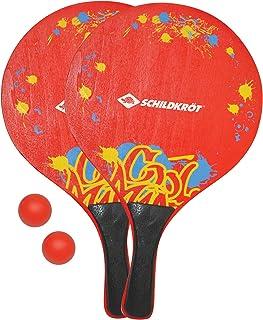 comprar comparacion Beachball Set XL, 2 Raquetas de Madera, 2 Bolas, en un Bolsillo de Red