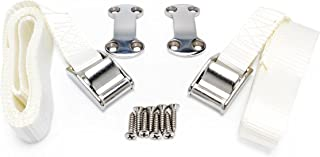 Kuuma 51960 Cooler Tie Down Strap Kit - Inlcudes Straps, Mounting Bracket, and Screws - Great for RVs, Boats, and Truck Beds