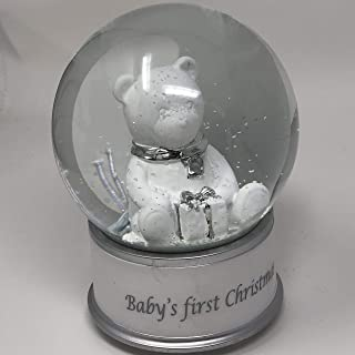 Baby's First Christmas Silver Musical Snow Water Globe - I'm Dreaming of a White Christmas