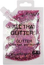 New Hair and Body Glitter Bag Pouch Holographic Cosmetic Grade Glamour (ROSE GOLD PINK)