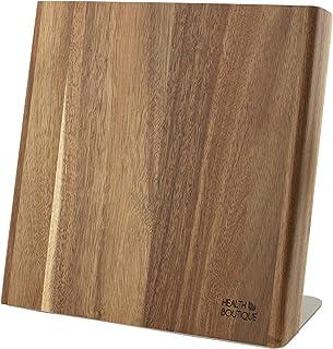 Soporte magnético para cuchillos de madera de acacia. Soporte magnético ideal para guardar cuchillos de alta calidad para una cocina ordenada (sin equipar o sin cuchillos).