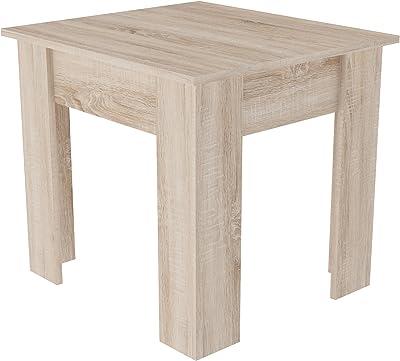 Demeyere Java Table, Panneau de Particules, Chêne brossé, 60 x 55 x 55 cm