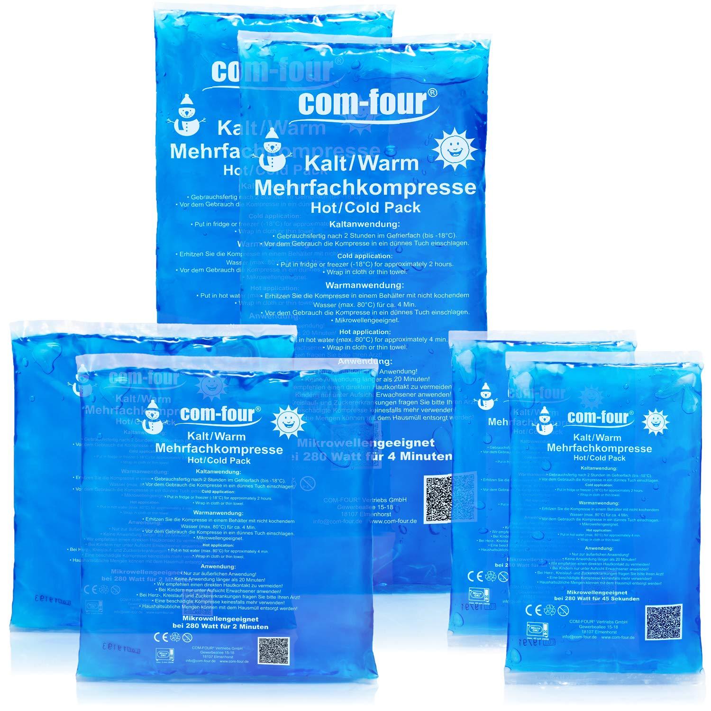 com-four® Compresas múltiples en 3 tamaños Diferentes, compresas ...