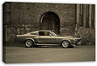 """FORD MUSTANG SHELBY GT500 ELEANOR CANVAS WALL ART (30"""" X 18"""")"""