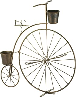 Accent Plus 10016041 57071321 Penny Farthing Bicycle Plant Holder, Brown
