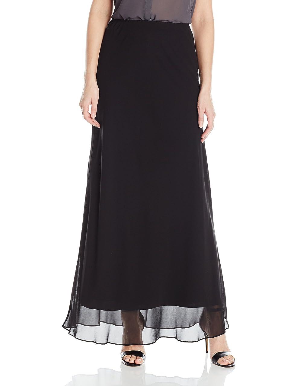 Alex Evenings Women's Long A-line Chiffon Skirt