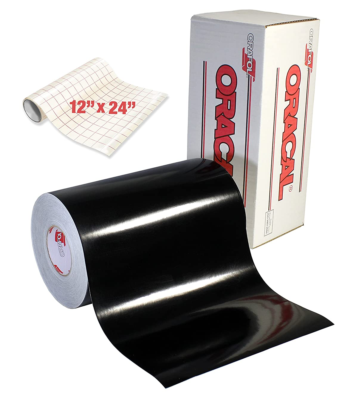ORACAL 651 Gloss Black Self-Adhesive Craft Vinyl Roll (12