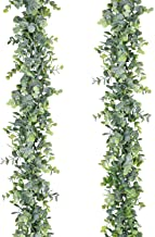 Lvydec 2 Pack Artificial Eucalyptus Garland, Fake Eucalyptus Greenery Garland Wedding Backdrop Arch Wall Decor, 6 Feet/Strand Fake Hanging Plant for Table Festival Party Decoration